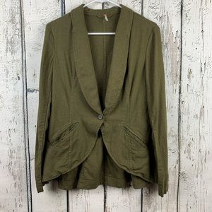 {Free People} Linen Blend Blazer/Jacket Size XS